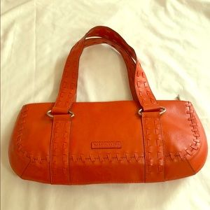 Excellent BCBG MAxAzria Large Orange Leather Purse